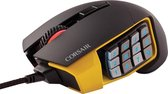 Corsair Scimitar Pro RGB - Optische Gaming Muis - MOBA/MMO - 16000 DPI - Geel