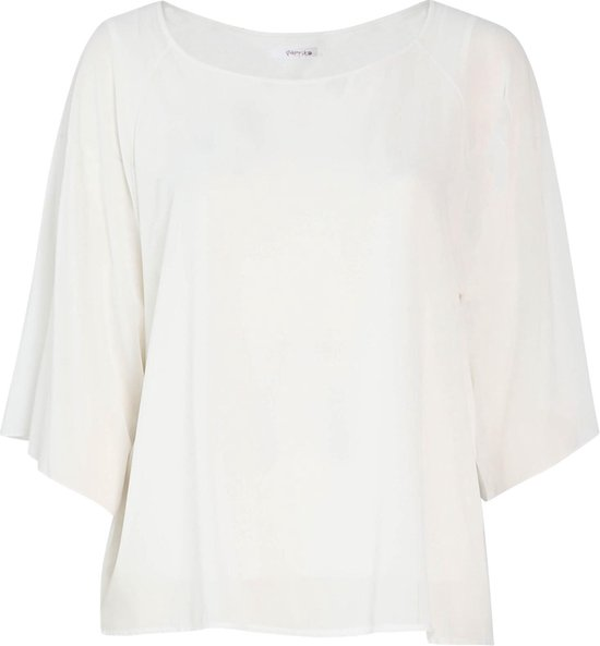 Paprika Ruime blouse met boothals Dames Blouse Maat EU48