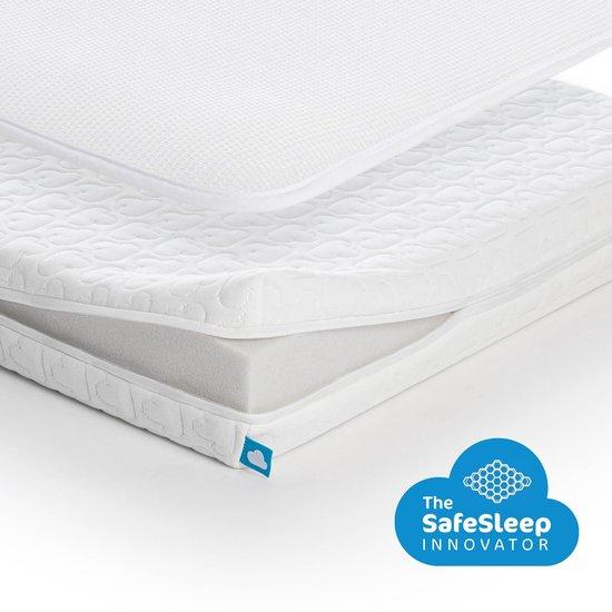 AeroSleep® Essential Pack 2-in-1 : matras + 3D matraseschermer - bed - 140 x 70 cm