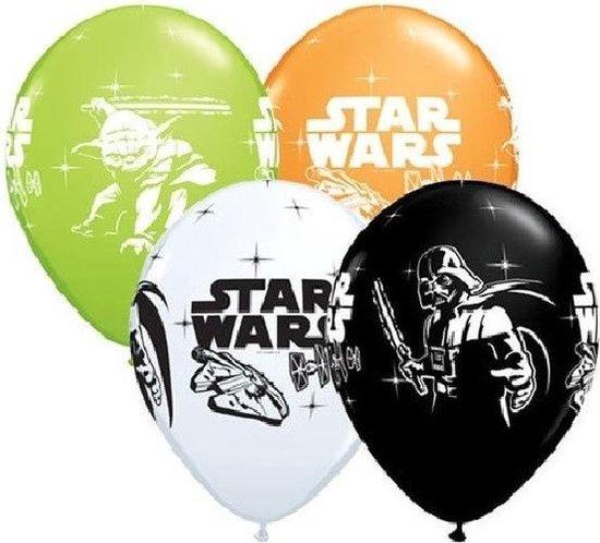 12x stuks Star Wars thema verjaardag ballonnen - Feestartikelen en versieringen