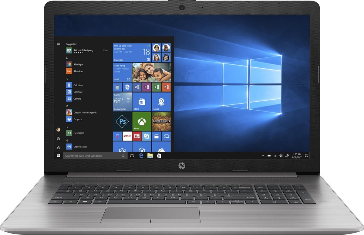 "HP 470 G7 Notebook Zilver 43,9 cm (17.3"") 1920 x 1080 Pixels Intel® 10de generatie Core™ i5 8 GB DDR4-SDRAM 256 GB SSD AMD Radeon 530 Wi-Fi 6 (802.11ax) Windows 10 Pro"