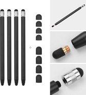 4 stuks - Stylus touchscreen pennetjes - Zwart