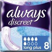 Always Discreet voor urineverlies maandverband - Long Plus - 40 Stuks - Voordeelverpakking