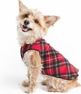 Goldpaw - Stretch Fleece Pullover - Rekbare Hondenjas/Hondentrui - Rood Geruit - Maat 18 (15-30kg)