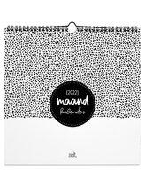 Zoedt - Maandkalender - 2022 - vierkant - zwart wit