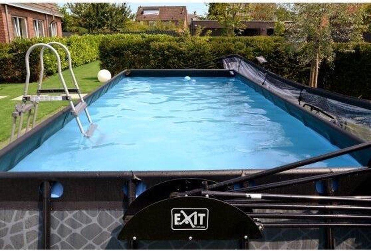 EXIT Stone zwembad 540x250x100cm met zandfilterpomp - grijs