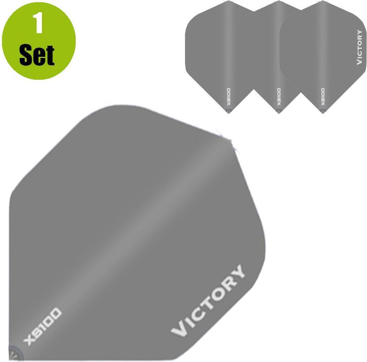 Victory Plain Dart Flights - Grijs- ()