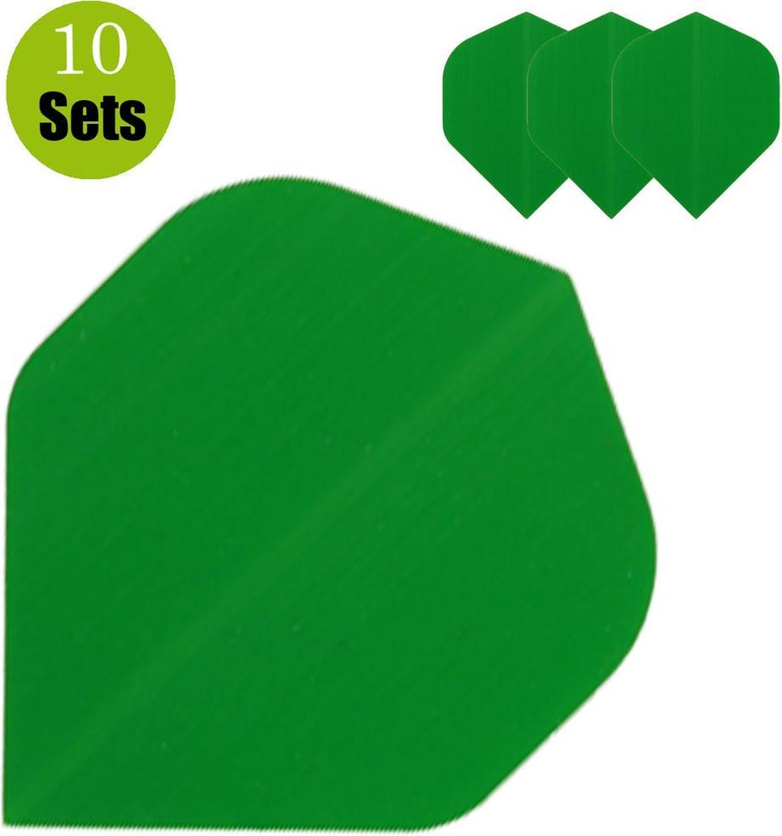 Poly Plain Dartflights - Groen- (10 Sets)