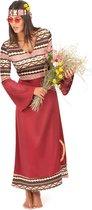 """""""Bordeaux rood hippie kostuum voor vrouwen - Verkleedkleding - Small"""""""