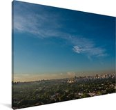 Luchtfoto van de Zuid-Amerikaanse stad São Paulo Canvas 180x120 cm - Foto print op Canvas schilderij (Wanddecoratie woonkamer / slaapkamer) XXL / Groot formaat!