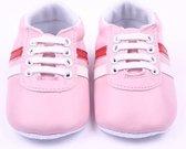 Roze pu leren sneakers - Kunstleer - Maat 18 - Zachte zool - 0 tot 6 maanden