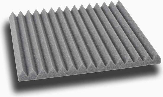 Wedge akoestisch studioschuim 30x30cm 2,5cm dik (12 stuks) - Antraciet