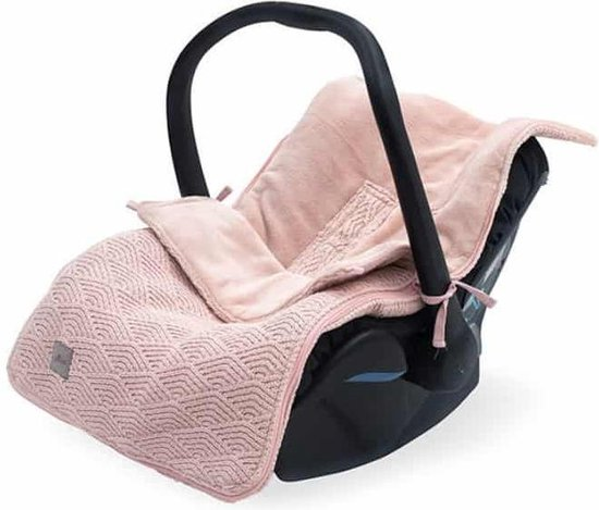 Voetenzak groep 0+ 3/5 punts River knit pale pink