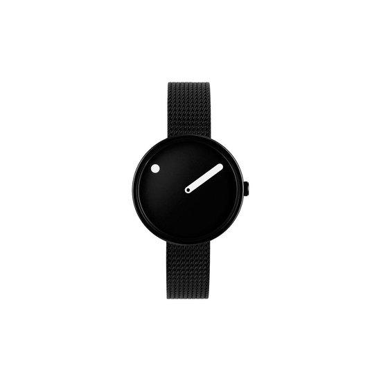 Picto Damen-Uhren Analog Quarz One Size Zwart 32015845