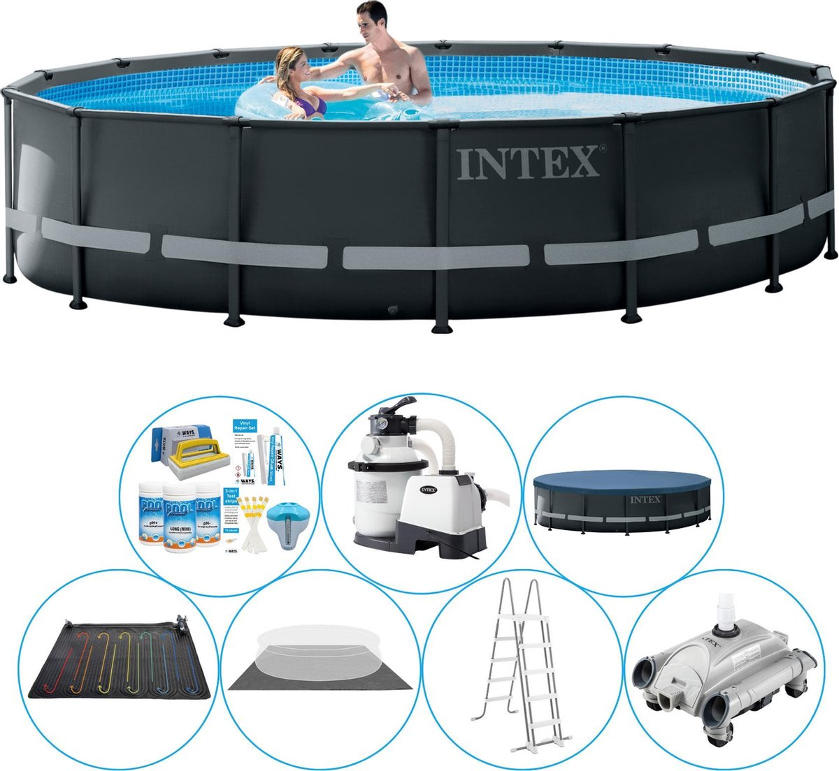 Intex Ultra XTR Frame Rond 488x122 cm - Zwembad Plus Accessoires