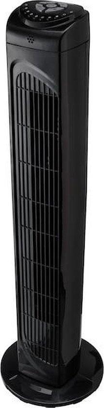 MEDION Torenventilator MD 10319   3 snelheden   45 Watt vermogen   omschakelbare zwenkfunctie   incl. afstandsbediening - Zwart