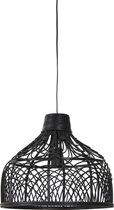 Light & Living Pocita Hanglamp - Rotan Zwart - Ø42x35 cm