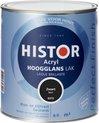 Histor - Acryl Hoogglans Lak - 750 ml - Zwart