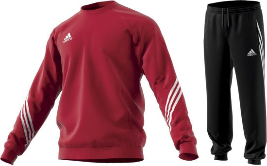 adidas Sereno 14 Joggingpak Heren Trainingspak - Maat M - Mannen -  rood/zwart/wit