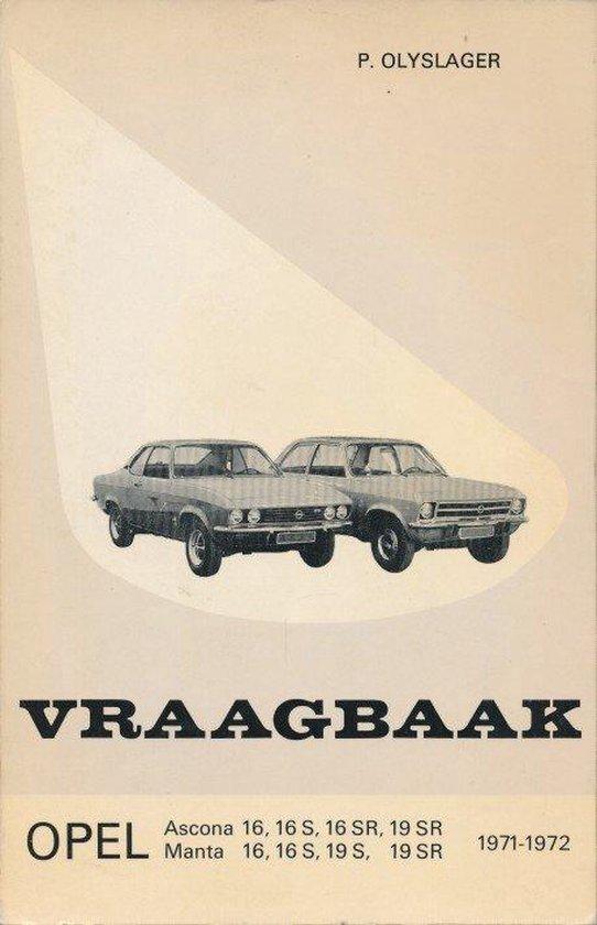 16 1971-1972 Vraagbaak opel ascona - Olyslager |
