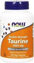 Now Foods, Taurine, Dubbel sterk, 1,000 mg, 100 capsules