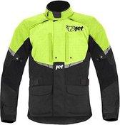 JET Tourer Textiele Motorjas Heren - Zwart Fluor Geel - Maat 7XL