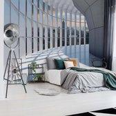 Fotobehang New York City 3D Modern Architecture View | VEXXL - 312cm x 219cm | 130gr/m2 Vlies