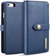 Apple iPhone 6s Echt Leren 2-in-1 Bookcase en Back Cover Hoesje Blauw