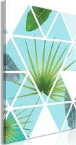 Schilderij - Geometrische Palm