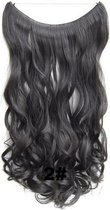 Wire hair extensions wavy bruin -  2#