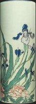 Vaas Hokusai, Irises-Peonies-Sparrows - Multi