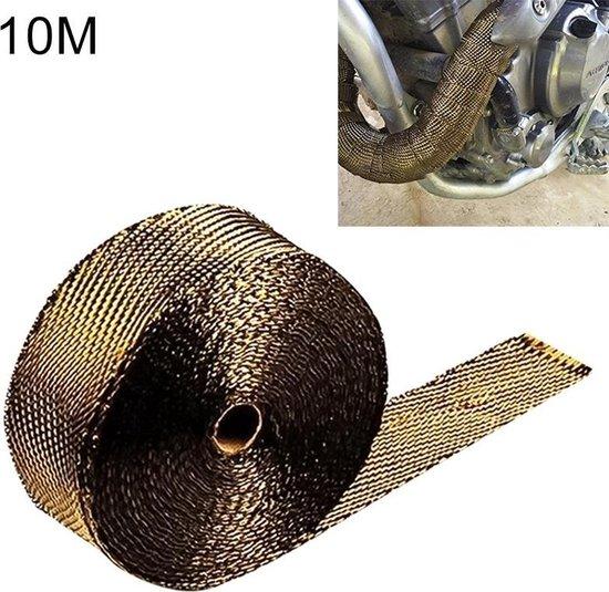 Uitlaat wrap - goud / titanium - 10 meter