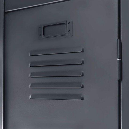 vidaXL Lockerkast industriële stijl 90x45x180 cm metaal