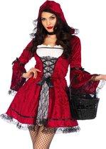 LEG-AVENUE - Gothic Roodkapje kostuum voor vrouwen - M/L - Volwassenen kostuums - Rood