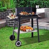 EKEO -  Barbecue - Houtskoolgrill met windbescherming BBQ  - 2 x opbergvak - Verstelbaar