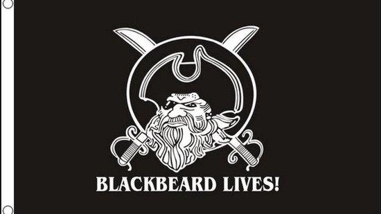 Blackbeard Lives piratenvlag