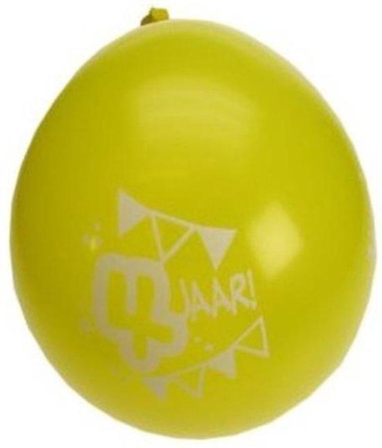 8x stuks party ballonnen 4 jaar thema - Verjaardag feestartikelen en versieringen