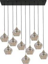 Light & Living Rakel Hanglamp - Antiek Brons/Smoke - 10L - 124x35x60cm