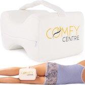 COMFY® Kniekussen voor in bed met band - Orthopedisch Beenkussen - Zwangerschapskussen - Zijslaap Kussen - Traagschuim - Rugpijn & Kniepijn - Beter Slapen