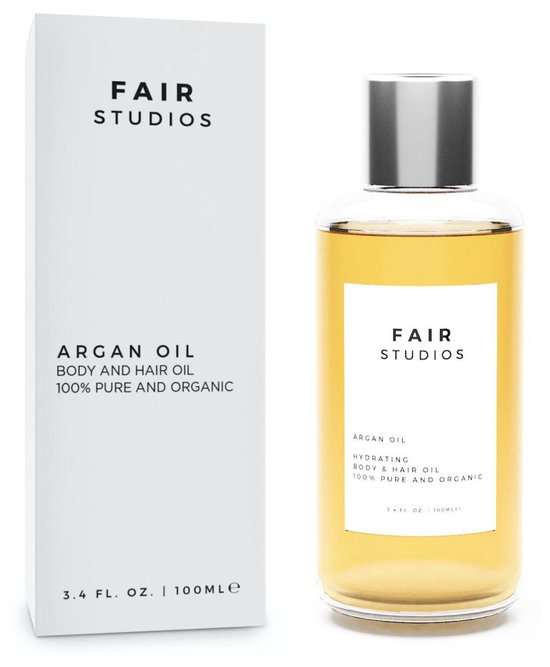 Moroccan Arganolie - EU BIO Keurmerk - 100% Biologisch - 100% Puur - FAIR Studios Originals - Argan Olie voor Haar, Huid en Gezicht - Koudgeperst - 100ML - Gezichtsverzorging - Etherische Olie - Argan Oil