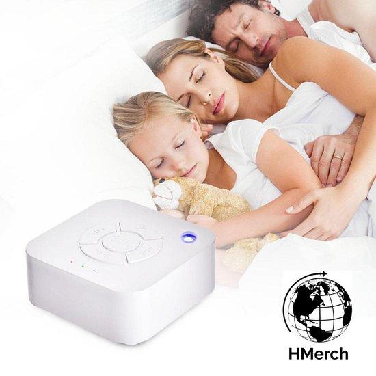 HMerch™ White Noise Machine - Witte Ruis Baby - Slaaphulp - Slaapmachine - Geluidsmachine - Ook geschikt voor volwassenen - Rustgevende geluiden - Slaap beter - Slaaptrainer