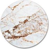 Wandcirkel marmer in de kleur wit rosé goud | Aluminium 120 cm | Ronde schilderijen | Wanddecoratie voor binnen en buiten | Muurcirkel Rose Gold op Dibond