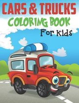 Cars and Trucks Coloring Book For Kids