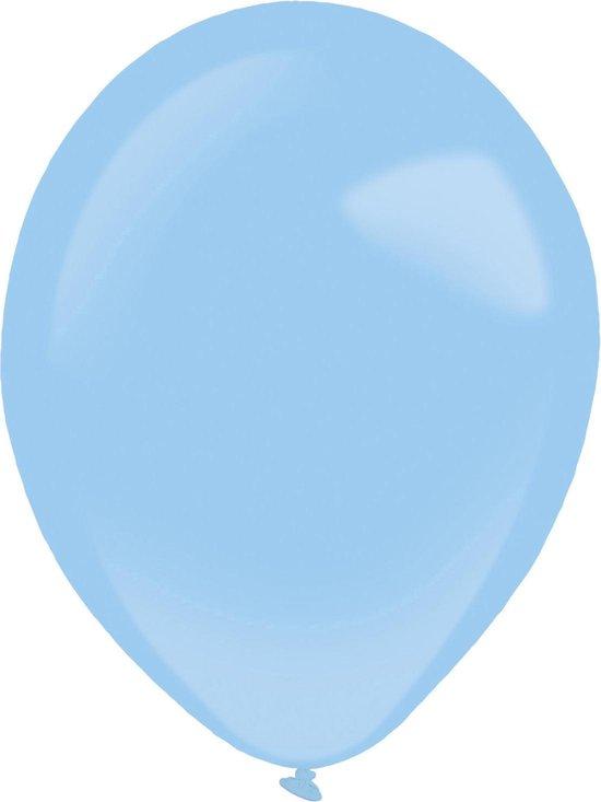 Amscan Ballonnen Standard 12 Cm Latex Lichtblauw 100 Stuks