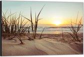 Dibond –Zand op het Strand -120x80 Foto op Aluminium (Met ophangsysteem)