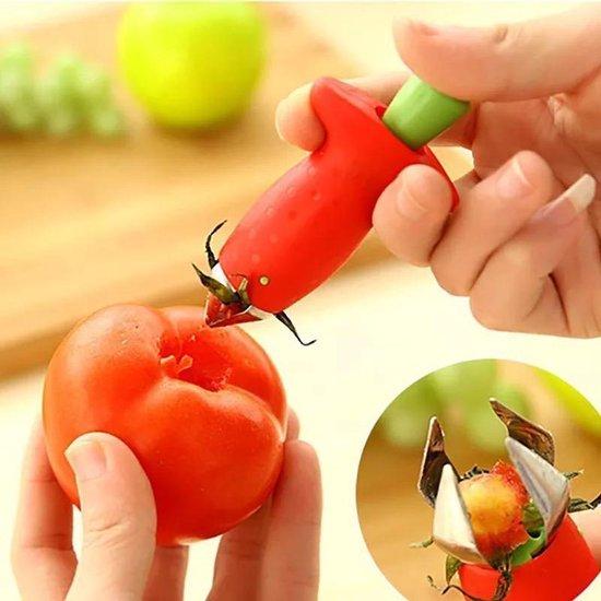 Tomaten / Aardbeien ontkroner - RVS - mes - Fruit Huller - Universeel keuken gereedschap