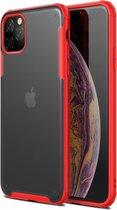 Krasbestendige TPU + acryl beschermhoes voor iPhone 11 Pro (rood)