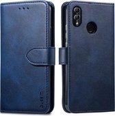 Voor Huawei Honor 10 Lite / P Smart (2019) GUSSIM zakelijke stijl horizontale flip lederen tas met houder & kaartsleuven & portemonnee (blauw)