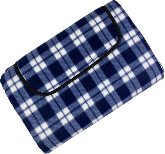 Promis Picknickkleed - 200 x 150 cm - Blauw/Wit
