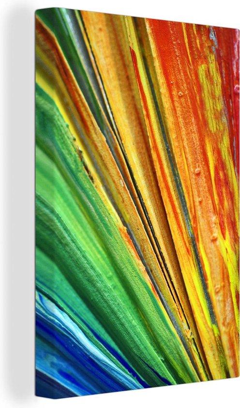 Kleurrijk Olieverfschilderij canvas 120x180 cm - Foto print op Canvas schilderij (Wanddecoratie woonkamer / slaapkamer) XXL / Groot formaat!